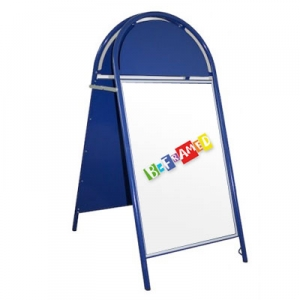 Tubular A-Board with Header - Blue