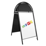 Tubular A-Board with Header - Black